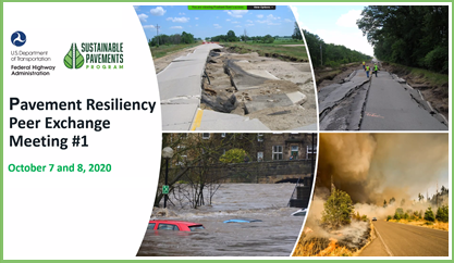 FHWA Presents Pavement Resilience Peer Exchange