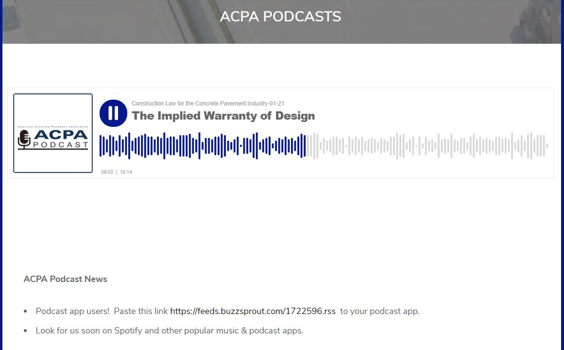 ACPA Debuts Concrete Pavement Podcasts