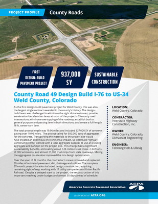 Project Profile CO RD Weld County Road 49 I 76 To US 34 Page 1