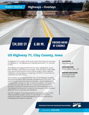 Project Profile IA HWY US Highway 71 Page 1
