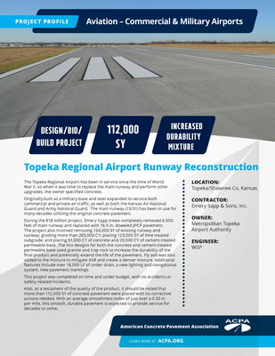 Project Profile KS AIR Runway 13 31 Reconstruction – Phase I Page 1