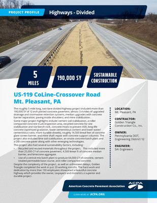 Project Profile PA HWY US119 CoLine Crossover Rd Page 1