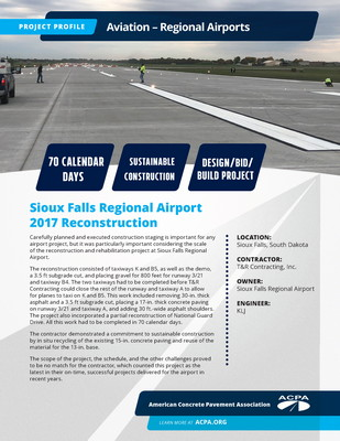 Project Profile SD AIR Sioux Falls Regional Airport Page 1
