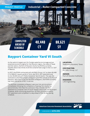 Project Profile TX IND Bayport Container Yard VI South Page 1