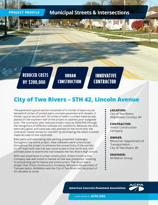 Project Profile WI ST STH 42 Lincoln Avenue Page 1