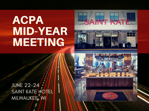 Save the Dates for ACPA In-Person Events