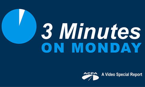 Update on ACPA's 3 Minutes on Monday