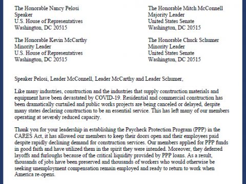 HMG Letter Outlines Concerns About Aspects of PPP Loan Program