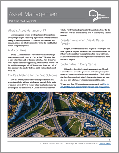 MIT Fact Sheet Describes Asset Management