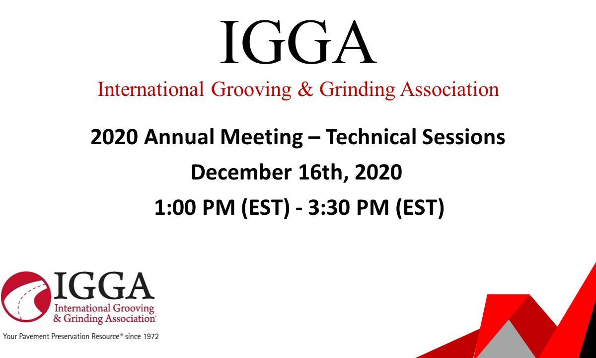 IGGA Plans Virtual Technical Session