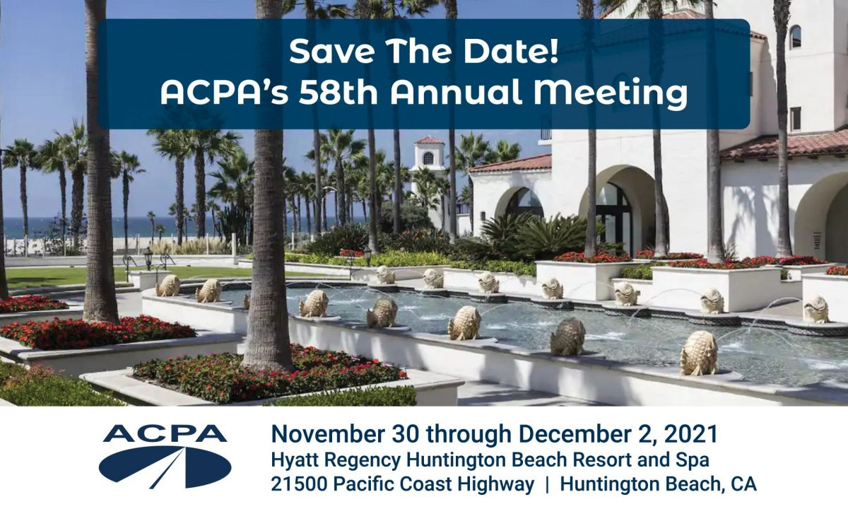 Looking Forward to ACPA's Annual Meeting