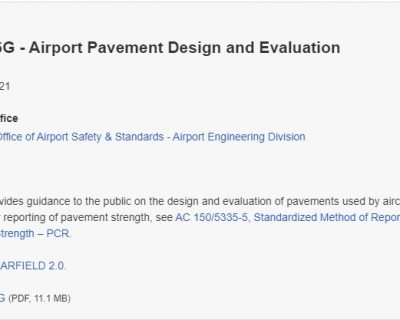 FAA Releases New Advisory Circular on Airport Pavement Design and Evaluation