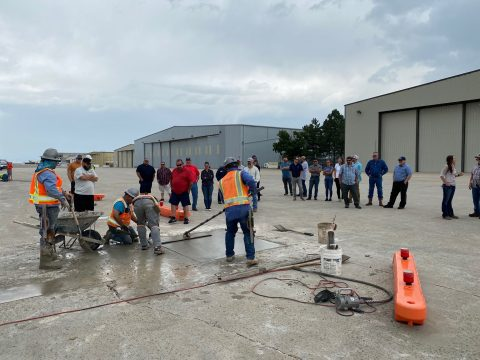 CO/WY Chapter Demos Airport Repair Technology and Educates CDOT Aeronautics Staff